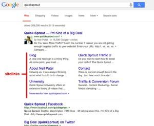 Google Webmaster Sitelink